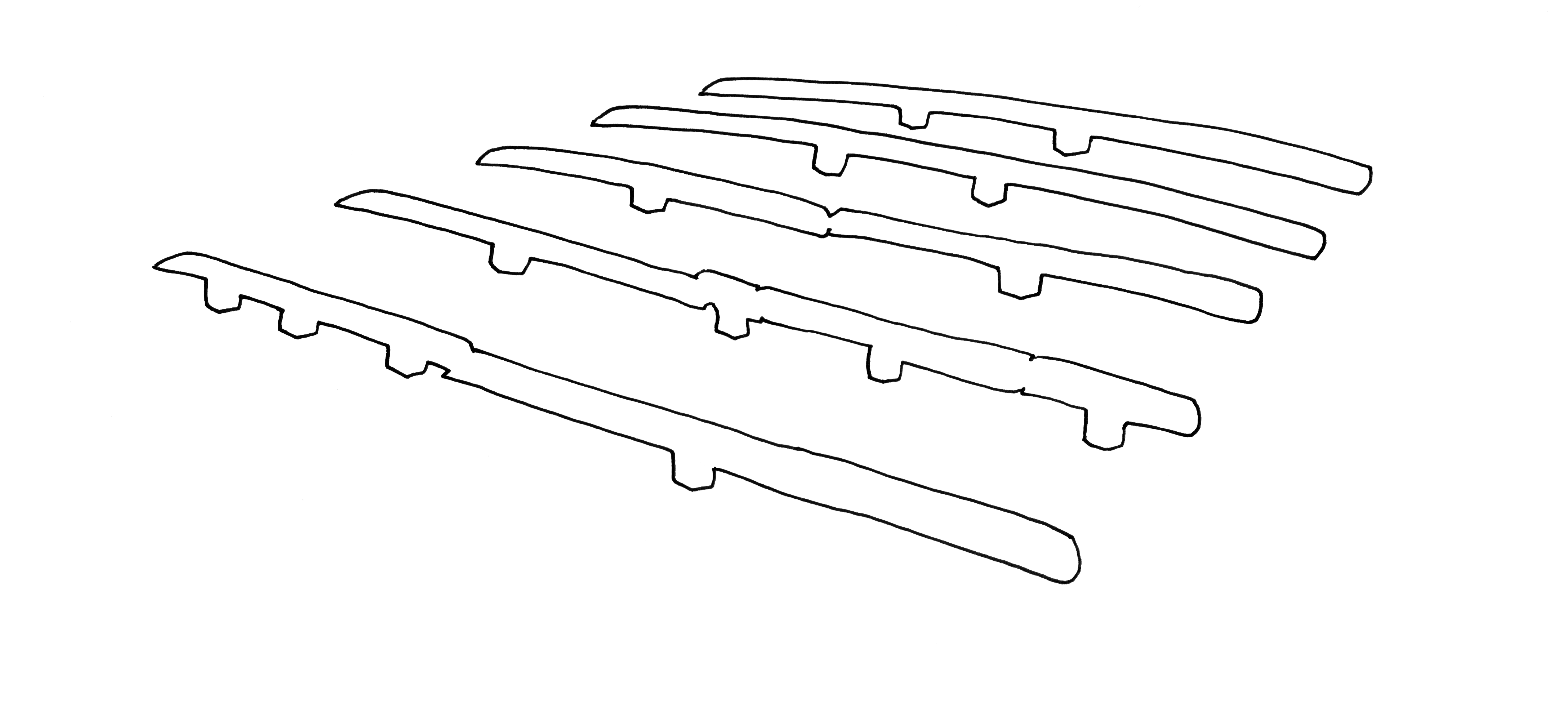 0,96 m2 de gisants metrologiques