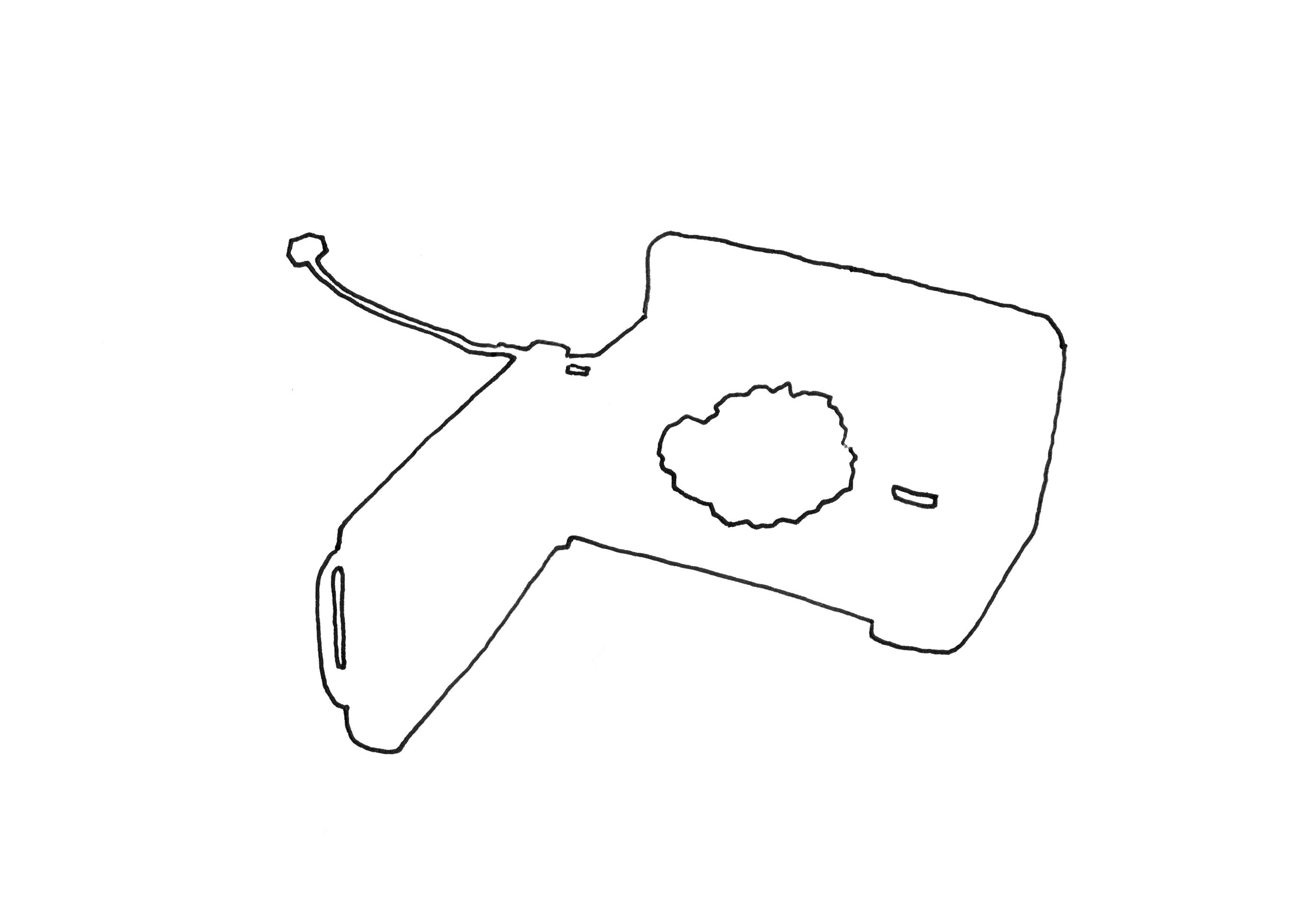 Demi-meteorite en milieu naturel